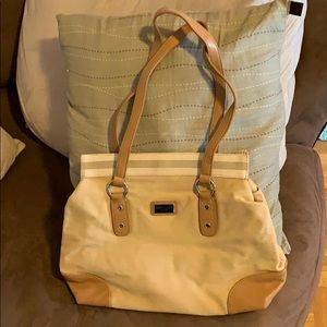Beige Tommy Hilfiger Canvas and leather purse